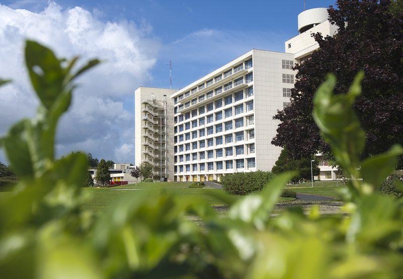 Vue sur l'hôpital de Saint-Lô